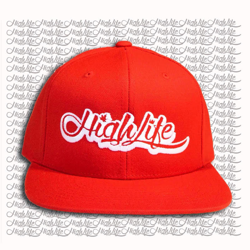 Snapback hat highlife classic logo 2 0 red rosso for Logo cappello rosso