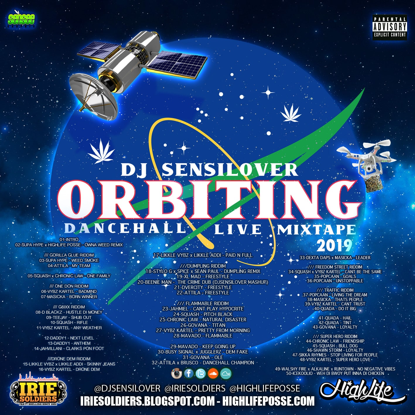 "ORBITING"" DANCEHALL LIVE MIXTAPE 2019 - DJ SENSILOVER (HIGHLIFE POSSE / IRIE SOLDIERS)"